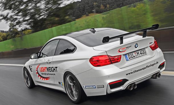 BMW M4 Tuning Lightweight Carbon Titan Auspuff Abgasanlage Felgen Fahrwerk Motor 0002