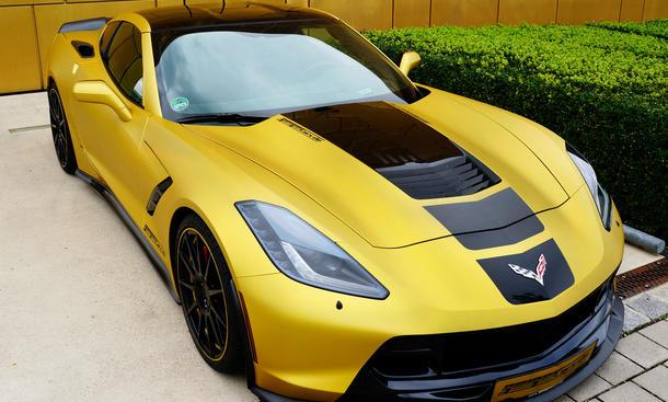 Geiger Cars Corvette C7 Stingray Tuning Kompressor Umbau Gold