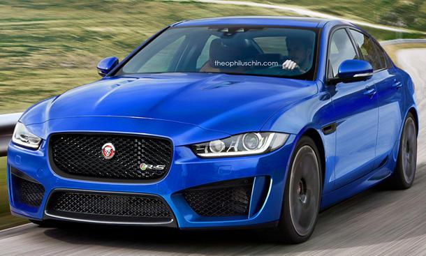 Jaguar XER-S Mittelklasse-Limousine Sportversion V6 Kompressor V8 Rendering