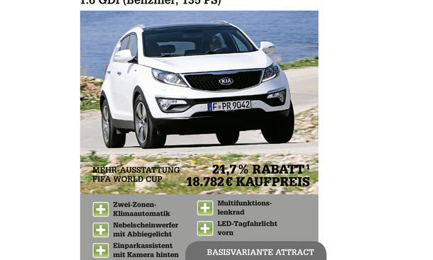 Kia Sportage Ausstattung extras rabatte ratgeber