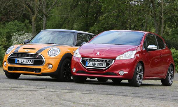 Mini Cooper S vs. Peugeot 208 GTi: Sportliche Kleinwagen im Vergleich