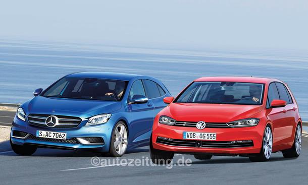 Neuheiten von Mercedes und VW: Duelle in allen Klassen