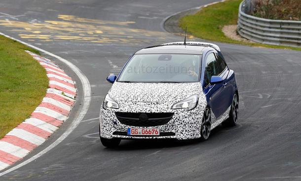 Opel Corsa OPC 2014 E Erlkönig Sportversion Kleinwagen Neuheiten Bilder