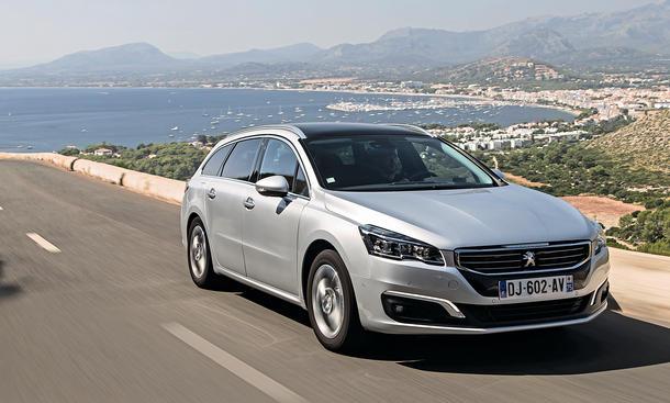 Peugeot 508 SW Facelift Test Fahrbericht Bilder