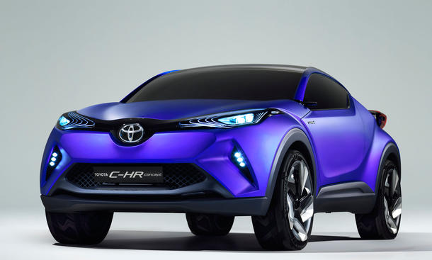 Toyota C-HR 2014 Pariser Salon Crossover Design Vorschau
