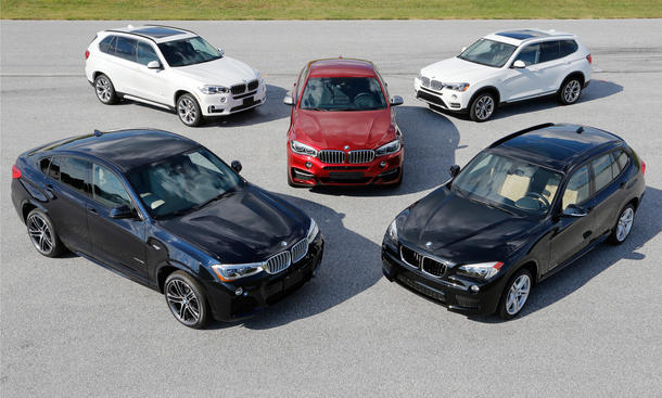 15 Jahre BMW X Modelle Jubilaeum X1 X3 X4 X5 X6 Geburtstag 2014