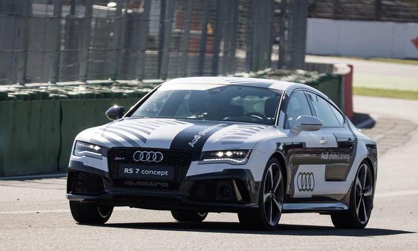Audi RS 7 driving concept autonomes fahren Hockenheimring Renntempo Video