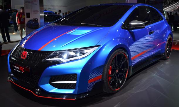 Honda Civic Type R Concept Pariser Autosalon 2014 Bilder Live