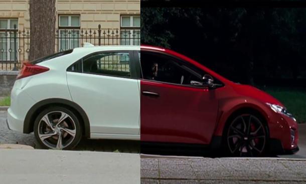 Honda Civic Type R Werbung 2014 zwei Gesichter 2 Geschichten