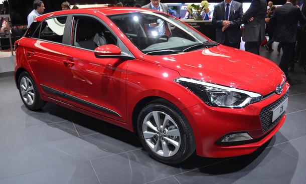Hyundai i20 2015 Live-Bilder Kleinwagen Pariser Autosalon 2014