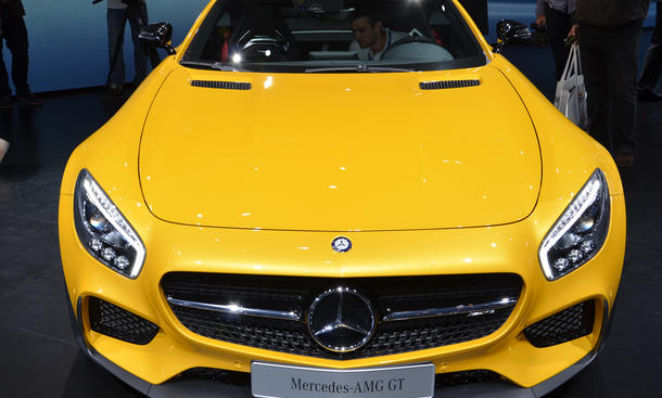 Mercedes AMG GT S Live Bilder Pariser Autosalon 2014 Supersportwagen