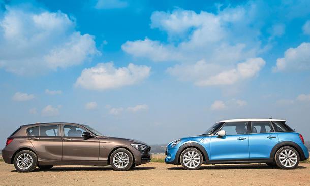 Mini Fünftürer Cooper SD 2014 BMW 120d Einser Vergleich