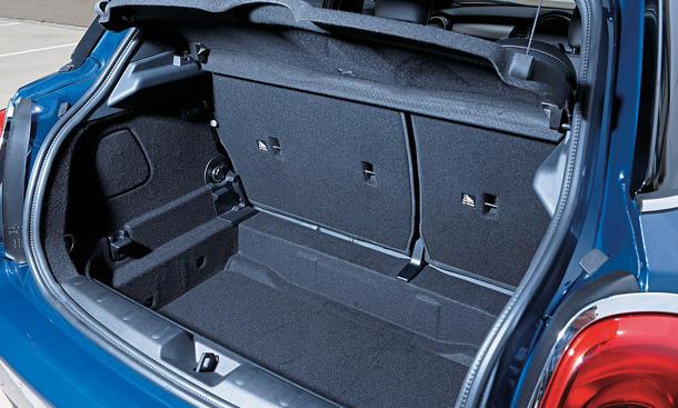 Mini Cooper Fünftürer 2014 Test Kofferraum