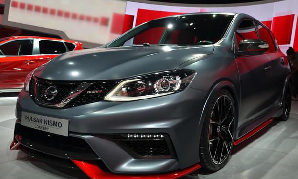Nissan Pulsar Nismo 2015 Live-Bilder Pariser Autosalon 2014 Sportversion Kompaktsportler
