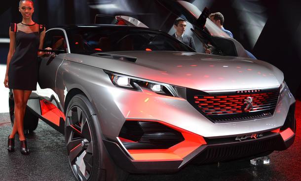 Pariser Autosalon 2014 Studien Concept Cars Peugeot Quartz