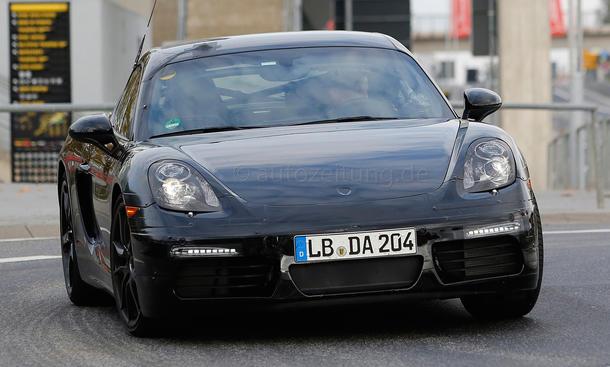 Porsche Cayman Facelift 2016 Erlkönig Sportcoupé Nürburgring Prototyp Markteinführung
