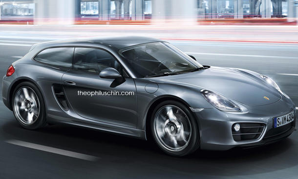 Porsche Cayman Shooting brake cayvan theophilus chin rendering bilder Panamera 2016