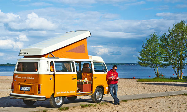 bulli reportage mit dem vw t2 westfalia unterwegs. Black Bedroom Furniture Sets. Home Design Ideas