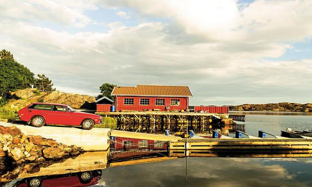 Volvo P 1800 ES Schneewittchensarg Oldtimer Schweden-Sommer Midsommar Reportage Bilder