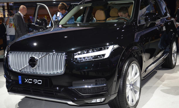 Volvo XC90 2015 SUV Live Bilder Premiere Pariser Salon 2014