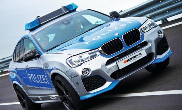 BMW X4 Tuning Polizeiauto AC Schnitzer Essen Motor Show 2014 Tune it safe Kampagne SUV Coupé