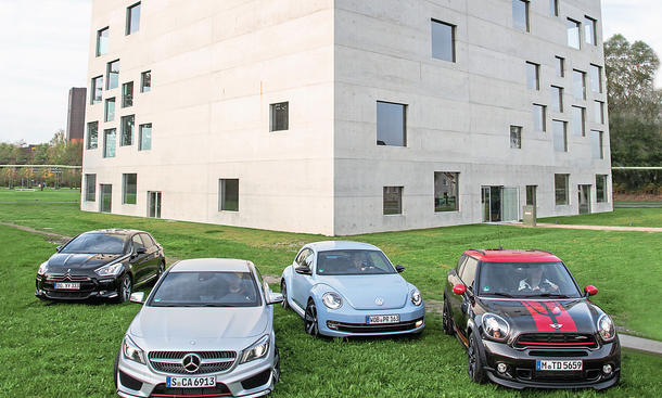 Citroën DS5 Mercedes CLA Mini Paceman VW Beetle Vergleich Bilder technische Daten