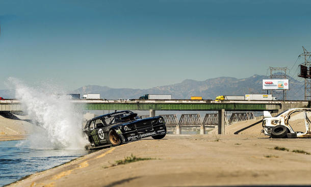 Gymkhana Seven Ken Block Hoonicorn RTR Mustang Drift Action Los Angeles
