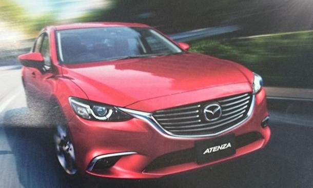 Mazda6 Facelift 2014 Leak LA Auto Show Mittelklasse Infotainment