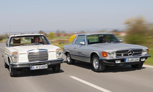 Mercedes 280 CE 280 SLC Vergleich Youngtimer Bilder technische Daten