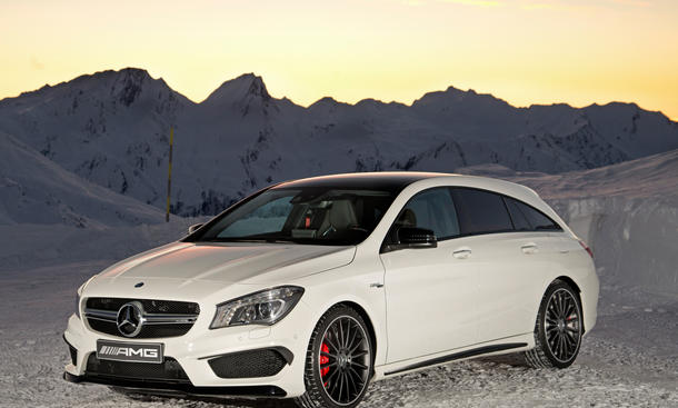 mercedes cla 45 amg shooting brake power kombi mit 360 ps. Black Bedroom Furniture Sets. Home Design Ideas