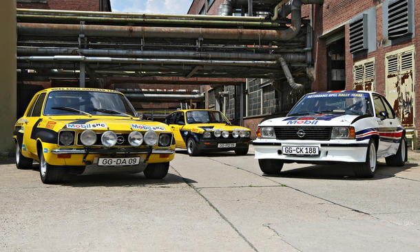 ascona a, kadett c gt/e 16v und ascona b 400: rallye-opel von walter