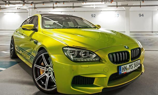 PP Performance BMW M6 Gran Coupe RS800 Tuning Folierung gelb gruen