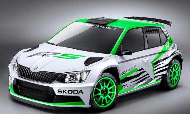 Skoda Fabia R5 Rallyeauto WRC Essen Motor Show 2014 R 5 S200-Nachfolger