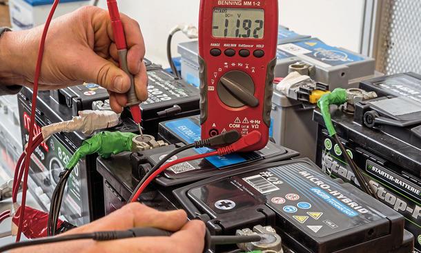 Test 2014 Auto Batterie Start Stopp Vergleich Bosch Moll Varta Intact Banner Exide 0003