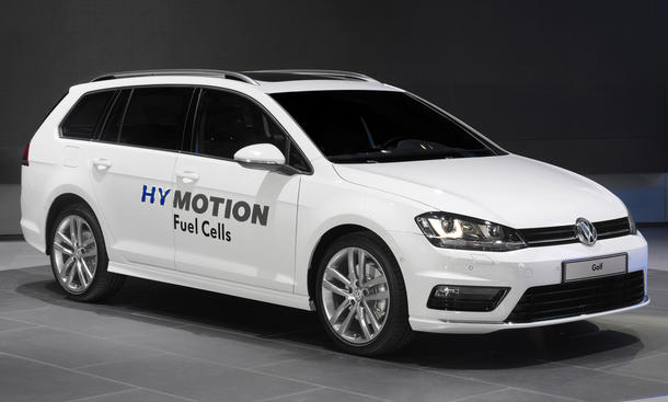 vw golf hymotion variant brennstoffzellen auto auf der l. Black Bedroom Furniture Sets. Home Design Ideas