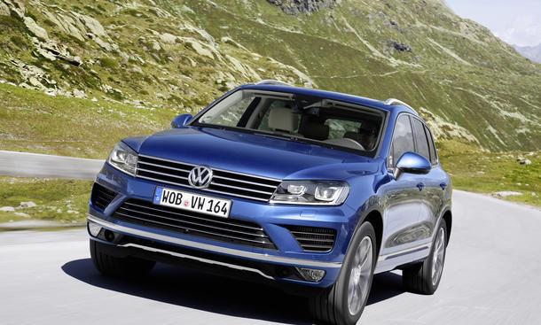 Neuer Vw Touareg Facelift 2014 Erste Testfahrt Autozeitungde