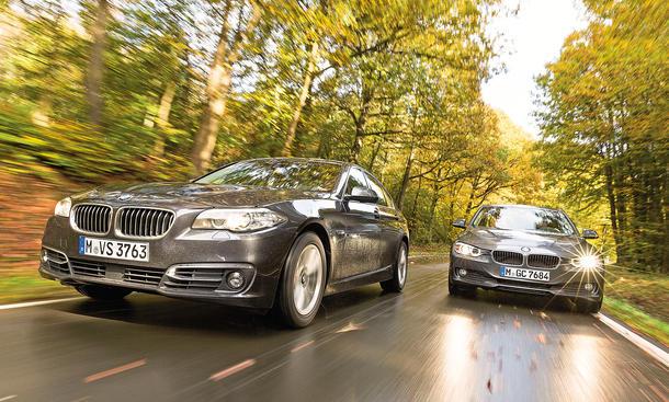 BMW 518d BMW 320d Limousinen Vergleichstest Diesel