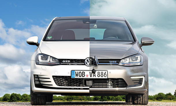 VW Golf GTE 2014 Golf GTD Kompaktklasse Antriebs-Vergleich Plug-in-Hybrid