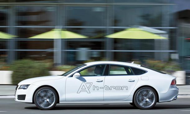 Audi A7 h-tron Fahrbericht Wasserstoff-Antrieb Forschungsfahrzeug