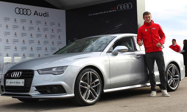 Audi Real Madrid Toni Kroos Fahrzeugübergabe 2014 Sponsoring