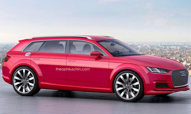 Audi TT 2015 Kombi Avant Concept Rendering Studie 0002