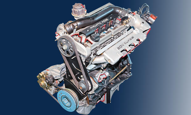 Audi quattro 20V Fünfzylinder Turbo Motor Technik Bilder
