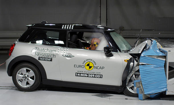 Euro NCAP Crashtest 2014 Mini Cooper Sicherheit