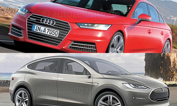 Audi BMW Mercedes Tesla Volvo Premium Neuheiten 2015 Bilder Daten