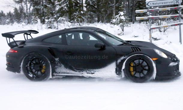 Porsche 911 GT3 RS 2015 Erlkoenig bilder schnee Porsche 991 0002