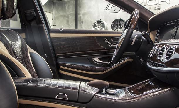 Prior Design Mercedes S Klasse Krokodil Leder Innenraum Krokodilleder