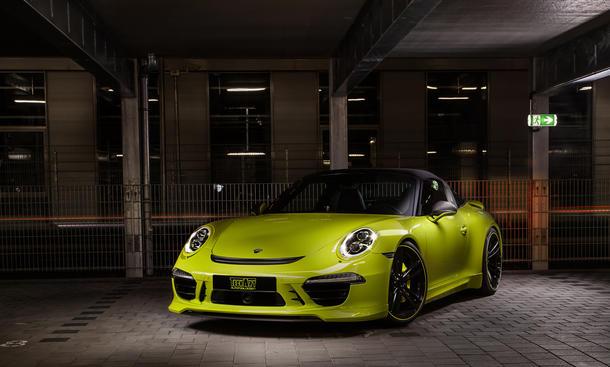 TechArt Porsche 911 Targa Tuning Licht gruen Individual Lackierung