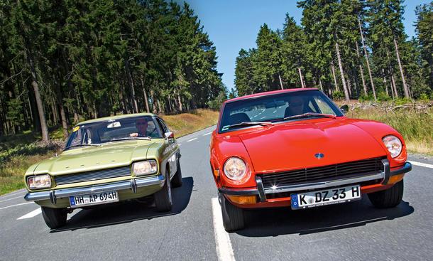 Datsun 240Z Ford Capri 1969 Classic Cars Ikonen Sportcoupes Gran Turismo
