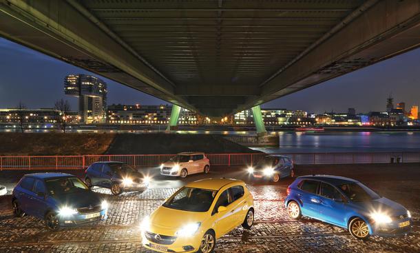 Opel Corsa Ford Fiesta Seat Ibiza Skoda Fabia Suzuki Swift VW Polo Vergleichstest Kleinwagen Benziner Fünftürer