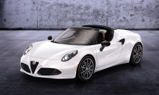 Alfa Romeo 4C Spider 2015 Roadster Cabrio-Neuheiten Highlights